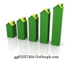 Increase - 3d House Graph