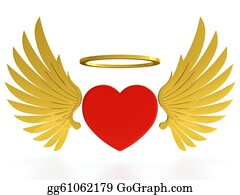 Golden-Love-Hearts - Heart With Wings
