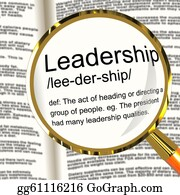Management - Leadership Definition Magnifier Shows Active Management And Achievement