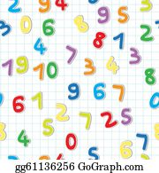 Funny-Bubble-Cartoon-Numbers - Figures Pattern