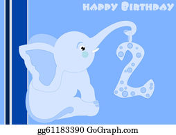 Blue-Elephant - 2nd Birthday - Little Blue Elephant
