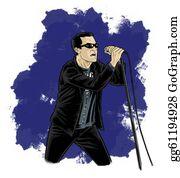 Singer - Cartoon - Comic Style Singer