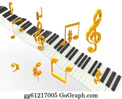 Music-Notes-On-Piano-Keyboard - Golden Superhit Music