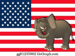 Blue-Elephant - Happy Republican Elephant