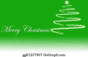 Merry-Christmas-Text - Abstract Christmas Tree With Stars With Merry Christmas Text