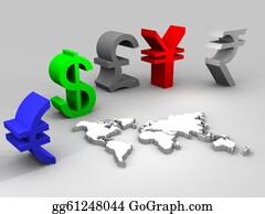 International-Trade - Illustration Of Trade Currencies Worldwide