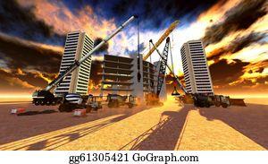 Cement-Truck - Construction Site