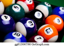 Cue-Ball -  Billiard Ball Close Up