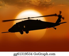 Helicopter - Helicopter At Sunset