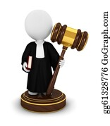 Judge-Gavel - 3d White People Judge