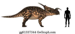 Horned-Lizard - Einiosaurus Size Comparison