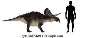 Horned-Lizard - Zuniceratops Size Comparison