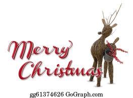 Merry-Christmas-Text - Merry Christmas Raindeer