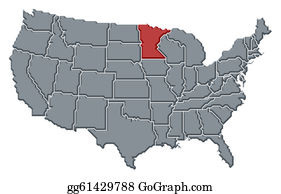 Minnesota - Map Of The United States, Minnesota Highlighted
