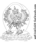 Buddhist - Kalachakra Buddhist Deity