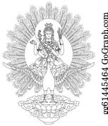 Buddhist - Mahamayuri Buddhist Deity
