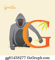 Gorilla - Animal Alphabet With Gorilla