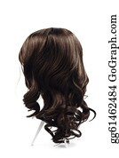 Wig - Wig Brown Hair Isolated