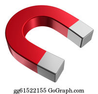 Gravity-Field - Red Horseshoe Magnet