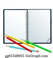 Memo-Pad - Sketchbook With Pencils