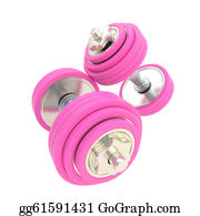 Dumb - Women Strength: Pink Pair Of Dumbbells