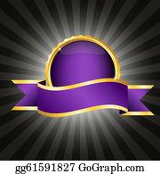 Badge - Purple Badge With Ribbon
