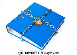 Self-Storage - File Folder Closed With Chain