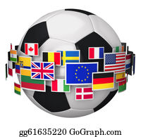 Globe-Flags - Football Championship Concept
