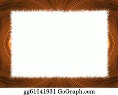 Orange-Border - Orange Fractal Border With White Co