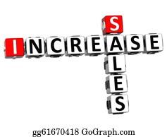 Increase - 3d Sales Increase Crossword