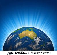 Australia - Australia View On An Earth Planet Globe