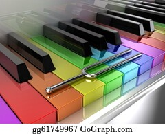 Music-Notes-On-Piano-Keyboard - The Multicoloured Piano