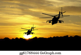 Helicopter - Helicopter Silhouettes