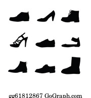Black-White-Mode - Black Shoes Silhouettes