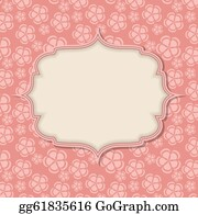 Vintage-Floral-Blue-Frame-Vector - Frame In  Retro Vintage Seamless Background. Vector Illustration.