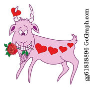 Goat-Cartoon - Valentine Goat