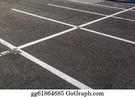 Car-Lot - Lines For Parking Lotzs Drawn On The Asphalt