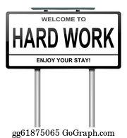 Hard-Work - Hard Work Concept.