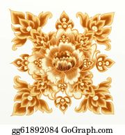 Paisley-Art - Golden Flower Of Damask Seamless