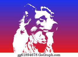 Border-Collie - White Border Collie Dog Silhouette