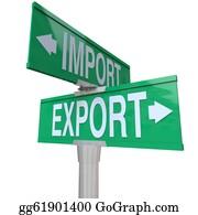 International-Trade - Import Export International Trade Two-Way Street Sign