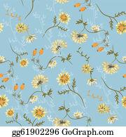 Chrysanthemum - Chrysanthemum Seamless Floral Pattern With Berries
