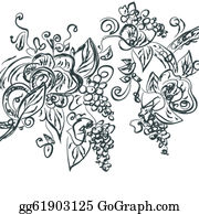 Grape-Leaf - Floral Hand Drawn Card With Grape Vine