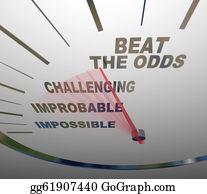 Hard-Work - Beat The Odds Successful Goal Achievement Speedometer