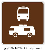 Bus-Drivers - Road Sign - Brown Bus Camper Parking