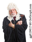 Wig - British Judge - Stern And Serious