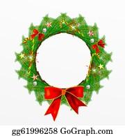 Christmas-Advent-Candles - Christmas Wreath With Christmas Dec