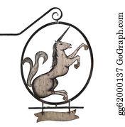 Beautiful-Unicorn - Old Sign With Unicorn