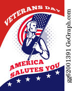 Veterans-Day - American Patriot Veterans Day Poster Greeting Card