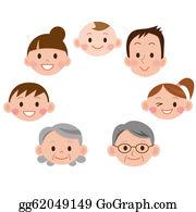 Granddaughter - Cartoon Family Face Icons